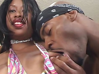 Ebony sex with cumshot on the big butt