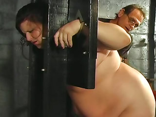 Fat girl comes to dungeon for abuse