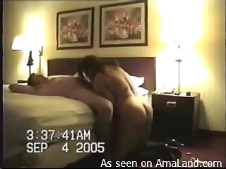 Hubby bangs slut from behind