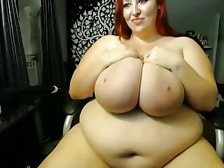 Redhead BBW Huge Tits Solo Pt. 2