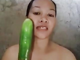 pinky usam hot filipino fucking hard with big fat cucumber