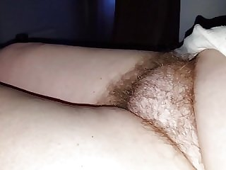 exposing her soft bush, soft nipple early morning