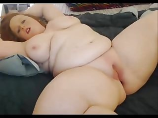 Redhead BBW Teen Masturbrate With Ass Plug