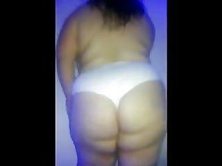my latina bbw dancing in white panties